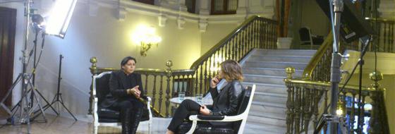 Entrevista a 3 cámaras para Telecinco.