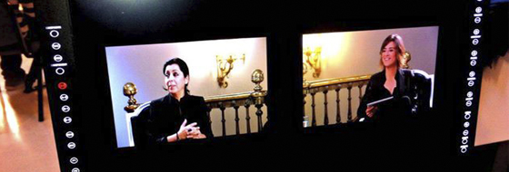 """Grabación y equipos de Visual Media Broadcast en """"El Gran Debate""""."""
