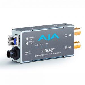 Conversor AJA Fido-2T (SDI 3G -> Fibra)
