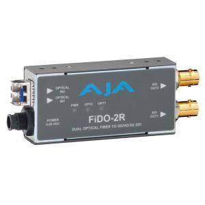 Conversor AJA Fido-2R (Fibra -> SDI 3G)